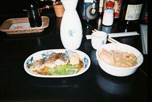 むつ煮魚で一杯 (三杯?)