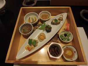 「和食すがわら」の豪華な夕食