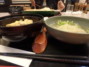 比内地鶏の親子丼と 田沢湖冷麺