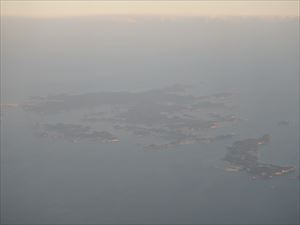 靄に煙る松島