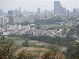 広瀬川と仙台市内