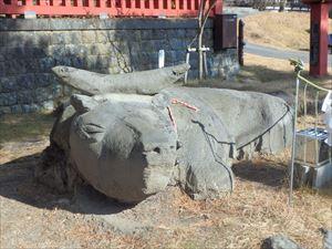 リアルな石の牛