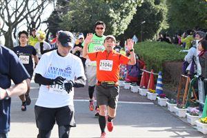 はだのマラソンの 私のゴール写真