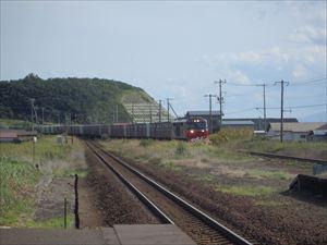 貨物列車をパチリ