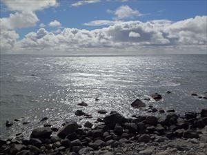 知床の海岸 利尻方面は何も見えない