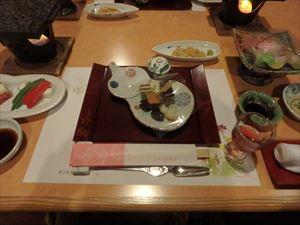 海産物でいっぱいの夕食