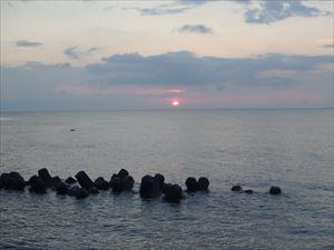 礼文島の日の出