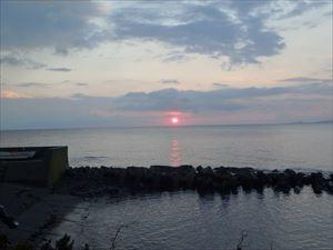 きれいな礼文島の朝日