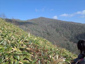 きれいな形の室蘭岳