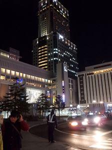 札幌駅は、大きくて 光がきれいです