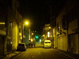 旧アーケード街 普通の小路になっていた