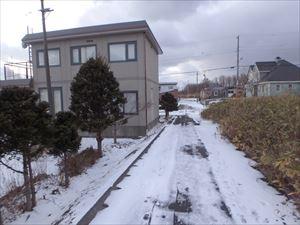 雪が積もった 八丁平の小道