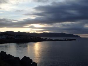 津軽海峡に出た