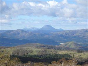 きれいに見えた 阿寒の山々
