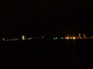 早朝の宍道湖 まだまだ暗い