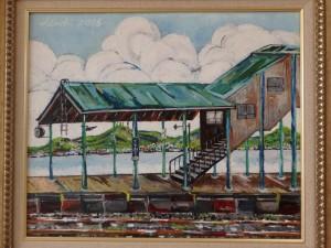 「本輪西駅からの風景」 侘しさが出ているかな?