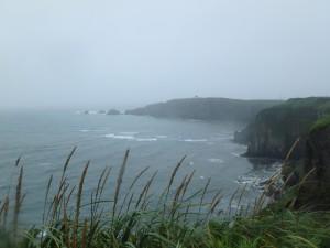 霧多布岬からのきれいな景色