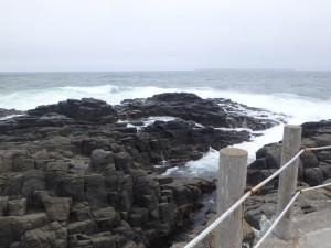 波が高くてちょっと怖い