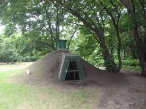 モヨロ貝塚の復元された竪穴住居