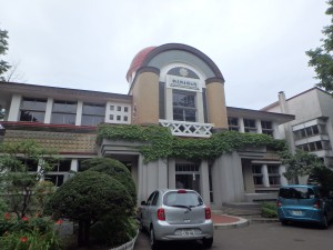 立派な建物の網走郷土博物館