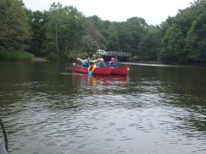 さあ出発 まず屈斜路湖に漕ぎ出る