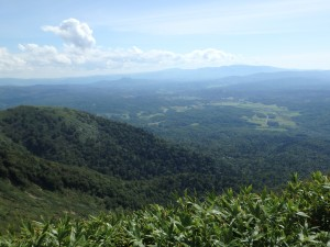 山頂からの景色 絶景だが日本海と利尻山は見えず