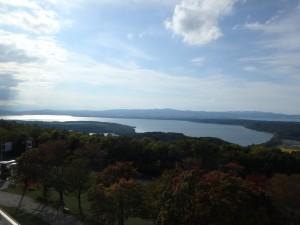 天気が良くて気持ちいい 天都山展望台