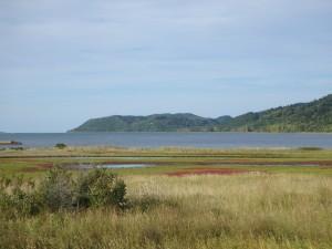 能取湖のきれいな眺め