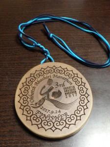 木製の完走メダル これで3個目ゲット