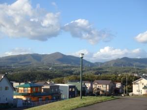 左に室蘭岳 右にカムイヌプリ