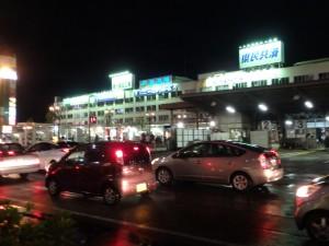 夜の新潟駅
