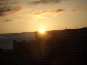 新潟に朝日が昇る