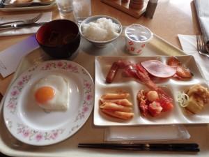 朝食をおいしくいただく