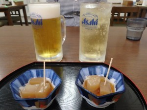風呂上りのビールがうまい!