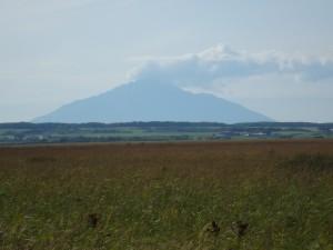 サロベツ原野と利尻山