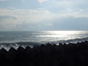 きれいな虎杖浜海岸
