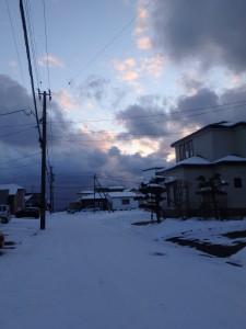 道路が真っ白になった 八丁平