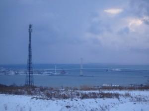 冬の白鳥大橋