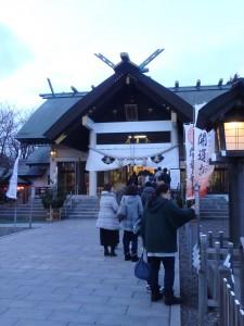 中島神社で サロマ100km完走を祈る