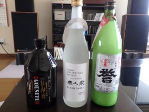 お土産の焼酎・清酒・にごり酒