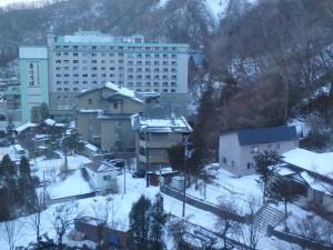 ホテルからのいい眺め かなり混んでいた