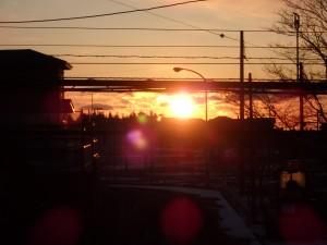 12/31の日の出は とてもきれいだったのだが