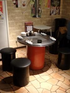 面白いドラム缶テーブル 韓国にはよくあるらしい