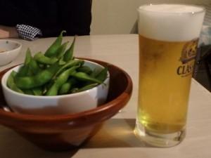 冬でも枝豆にビール!