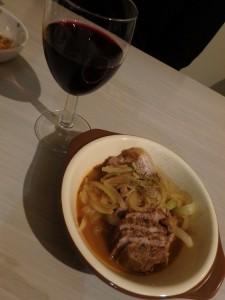 赤ワインがおいしい 中島の冬の夜
