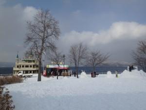 冬でも遊覧船出航 寒さに驚き!