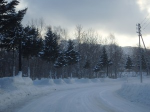 冬道は結構こわい