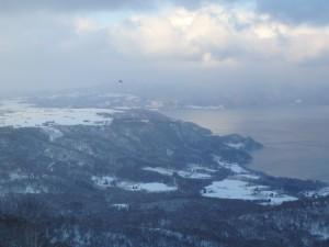美しい冬の洞爺湖