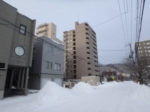 結構寒い、朝の札幌 -8℃くらい