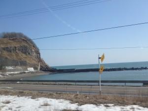 富浦近くの海